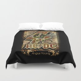 AC/DC angus young Duvet Cover