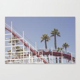Santa Cruz Rollercoaster Canvas Print