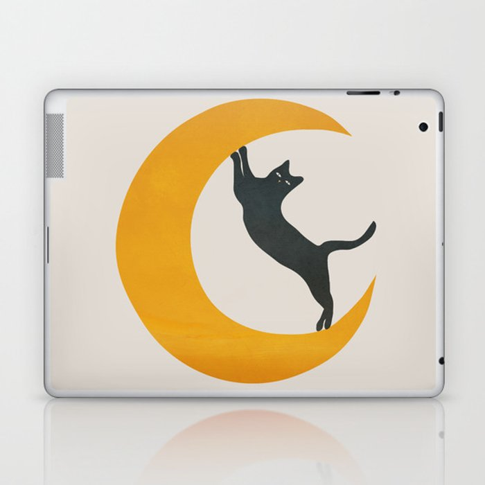 Moon and Cat Laptop & iPad Skin