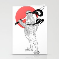 ninja turtle Stationery Cards featuring A Female Ninja Turtle by Rach-Draws