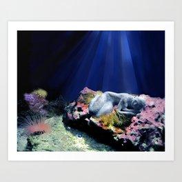 Waterwoman 2 Art Print