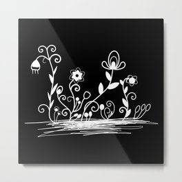 Floral (inverted) Metal Print