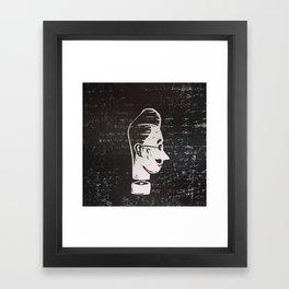 HEAD LINO Framed Art Print