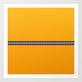 NY Taxi Cab Yellow with Black and White Check Band Art Print