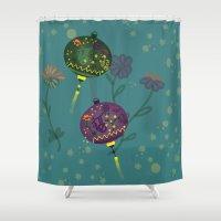 lanterns Shower Curtains featuring Lanterns  by MinaSparklina