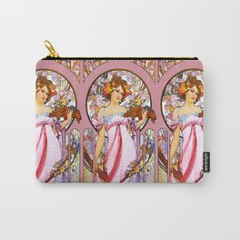 "Alphonse Mucha ""Moet And Chandon White Star"" Carry-All Pouch"