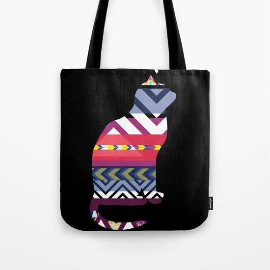 Tribal Feline Tote Bag
