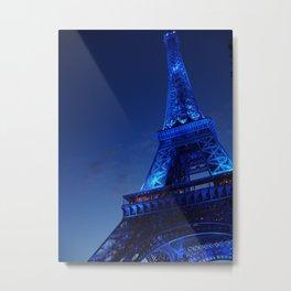 A Night in Paris - The Eiffel Tower Metal Print