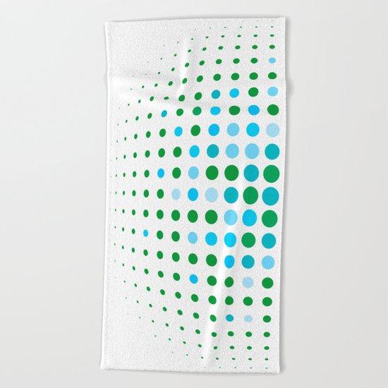 Green and blue optic Beach Towel
