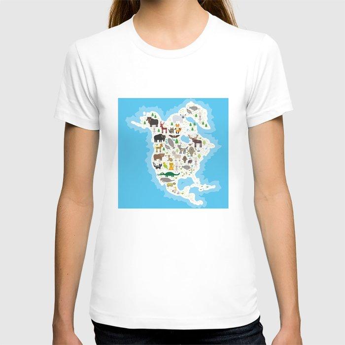 bison bat manatee fox elk horse wolf partridge fur seal Polar bear Pit viper snake Mountain goat T-shirt