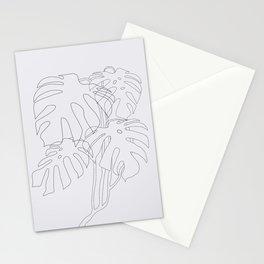 Monstera Illustration Stationery Cards