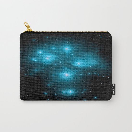 Turquoise Blue Galaxy: Pleiades Constellation Carry-All Pouch