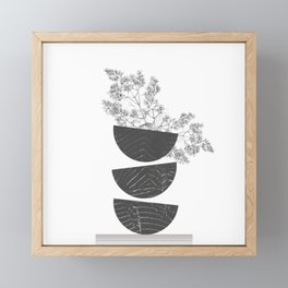 Vibration - Minimalism Mid-Century Modern Forms Framed Mini Art Print