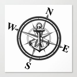 Nautica BW Canvas Print