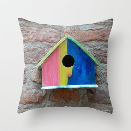 Birdhouse 2 Throw Pillow
