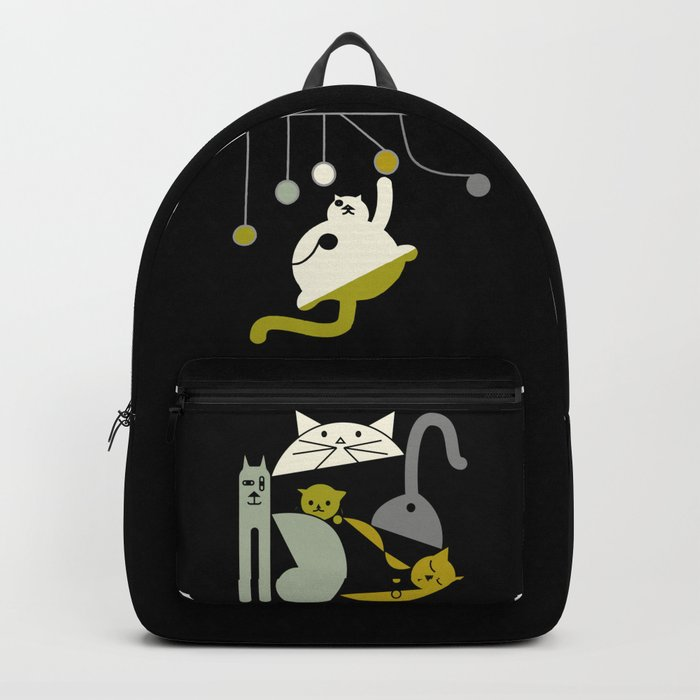 Cats playing Backpack