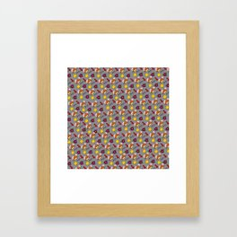 Hammy Pattern in Light Grey Framed Art Print