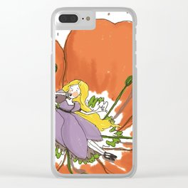 Wake me up in spring time Clear iPhone Case