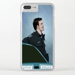 Killian Jones as Officer Rogers Clear iPhone Case