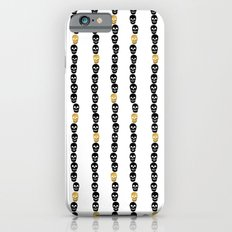 Black and Gold Skull Dots iPhone 6s Slim Case