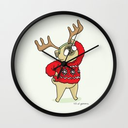 Mochi with horns Wall Clock