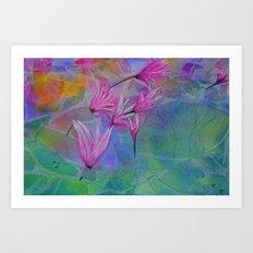 Dew Drop Lily Pad Art Print