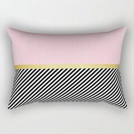 Pink golden pattern Rectangular Pillow