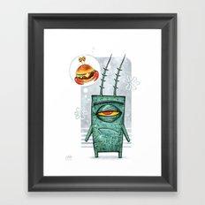 Sheldon James Plankton Jr Framed Art Print