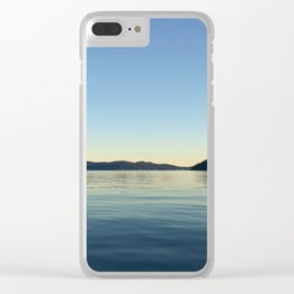 Ocean Calm V Clear iPhone Case