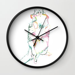 Fluffy Kitty Wall Clock