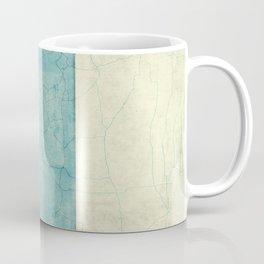 Montana State Map Blue Vintage Coffee Mug