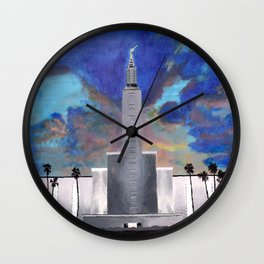 Los Angeles LDS Temple Wall Clock