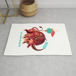 Chinese New Year 2021 Year of the Ox Rug