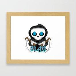 Skully Slays Framed Art Print