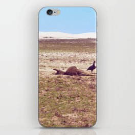 Vultures on Donkey iPhone Skin