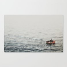 Lonely boat Canvas Print
