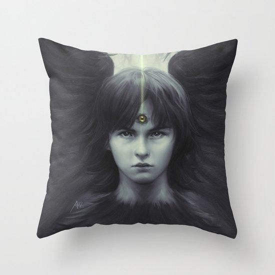 Eye of Raven Throw Pillow