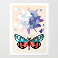 Scarlet Tiger & Queen of the Night Art Print