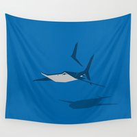 shark Wall Tapestries featuring Shark by Mr. Peruca