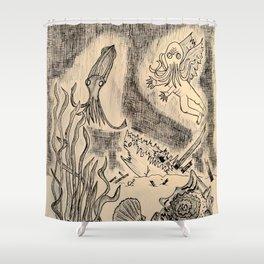 Parchment Sea  Shower Curtain