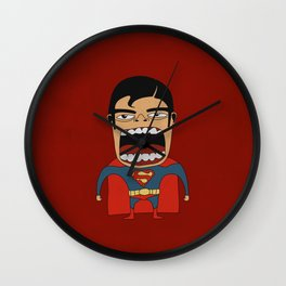 Screaming Superdude Wall Clock