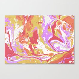 Abstract paint drops Canvas Print
