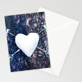 Snow Heart Stationery Cards