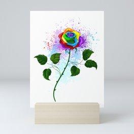 Rainbow Rose Mini Art Print