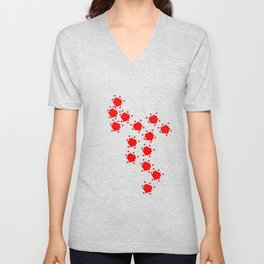 Little red stars Unisex V-Neck