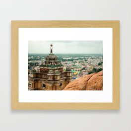 Hill Temple Framed Art Print