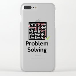 Problem Solving Maze Clear iPhone Case