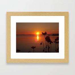 Sunset at the Riviera I Framed Art Print