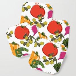 colorful vegetable medley Coaster