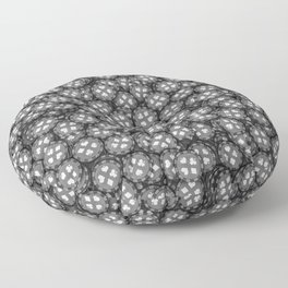 Poker chips B&W / 3D render of thousands of poker chips Floor Pillow
